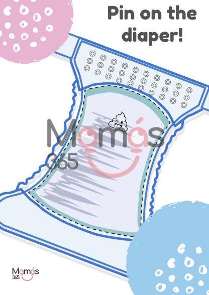 Poster Juegos interactivos pin on the diaper